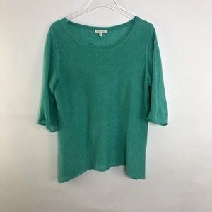 Eileen Fisher Linen Short Sleeve Sweater